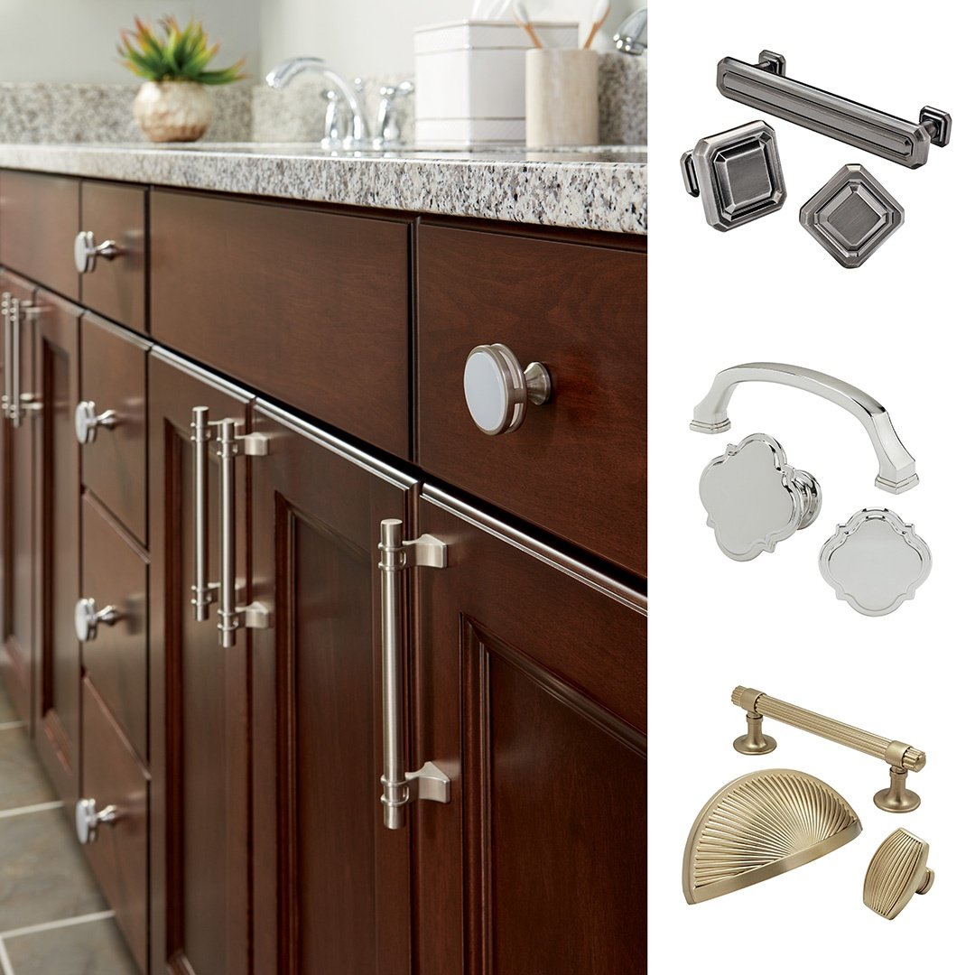 Amerocks 2016 cabinet hardware launch features new decorative knobs and pulls in the latest designs and finishes like golden champagne and polished nickel